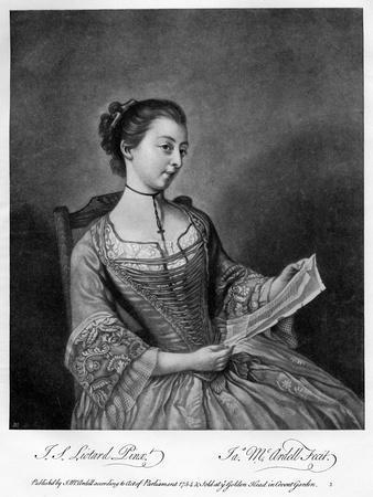 Miss Lewis, 1754
