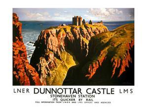Dunnottar Castle, LNER & LMS poster, 1939 by James McIntosh Patrick