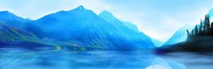 Mountainscape Panorama II by James McLoughlin