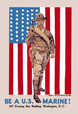 Be a U.S. Marine, Evening Star Building by James Montgomery Flagg