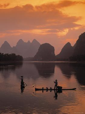 Cormorant Fishermen, Li River, Yangshuo, Guangxi, China by James Montgomery Flagg