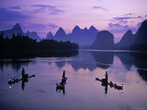 Cormorant Fishermen, Li River, Yangshuo, Guangxi, China by James Montgomery Flagg