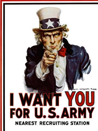 I Want You for the U.S. Army, c.1917 by James Montgomery Flagg