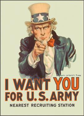 I Want You for U.S. Army - WWI - Uncle Sam by James Montgomery Flagg