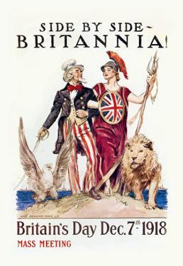 Side by Side with Britannia by James Montgomery Flagg