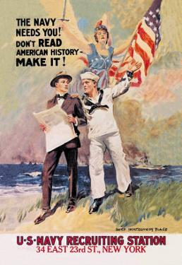 The Navy Needs You by James Montgomery Flagg