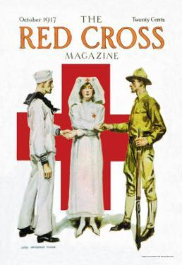 The Red Cross Magazine, October 1917 by James Montgomery Flagg