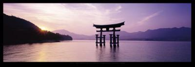 Torii, Itsukushima Shinto Shrine, Honshu, Japan by James Montgomery Flagg