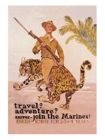 Travel? Adventure? Join the Marines by James Montgomery Flagg