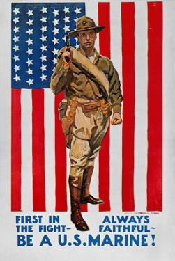 World War I: U.S. Marines by James Montgomery Flagg