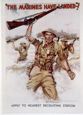 World War II, Marines Recruiting Poster, 1942 by James Montgomery Flagg