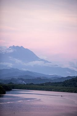 A View of Mount Kinabalu over Menkabong River by James Morgan