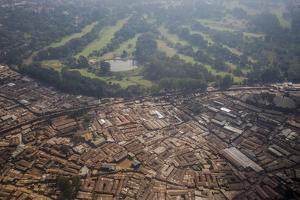 Aerial View of a Slum on the Outskirts of Nairobi, Kenya, East Africa, Africa by James Morgan