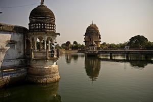 Lakshman Mandir Temple in Chanderi, Madhya Pradesh, North India, Asia by James Morgan