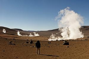 The Sol De Manana Geysers, a Geothermal Field at a Height of 5000 Metres, Bolivia, South America by James Morgan