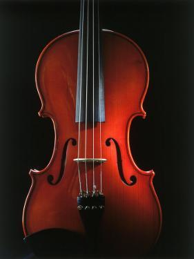 Close-up of a Violin by James Morris