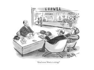 """Good news! Venice is rising!"" - New Yorker Cartoon by James Mulligan"