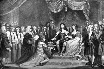 Parliament Offering the Crown to William and Mary, 1689