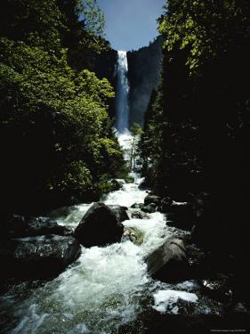 Bridal Veil Fall in Yosemite Valley, California by James P. Blair