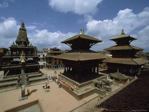 Durbar Square Showing the Statue of Garuda, Kathmandu Valley, Nepal by James P. Blair