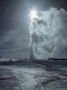Old Faithful Geyser, Yellowstone National Park, Wyoming by James P. Blair