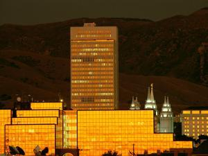 Salt Lake City at Sunset by James P. Blair