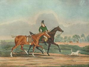 'Hunters at Covertside', early 19th century, (1929) by James Pollard