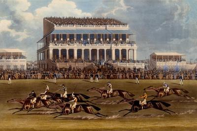 The Grand Stand at Epsom Races, Print Made by Charles Hunt, 1836