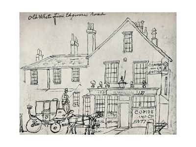 'The Old White Lion, Edgware Road', c1821