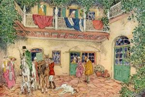 The Haunted House, New Orleans, Louisiana, USA, C18th Century by James Preston