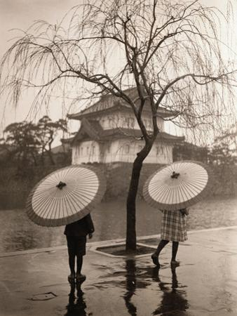 Women Carrying Japanese Umbrellas by James R. Young