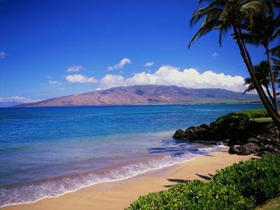 Kihei Beach and West Maui Mountains