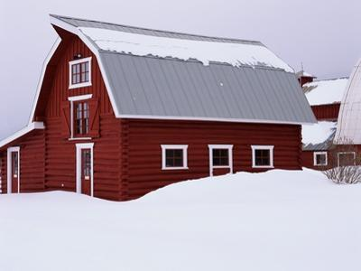 Red Barn in the Snow