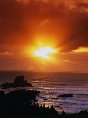 Sunset over the Pacific by James Randklev