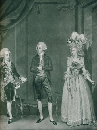 Hon Rd Edgcumbe, Lord William Russell, Lady Caroline Spencer, 1788