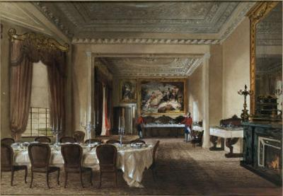 The Dining Room, Osborne House, 1851 by James Roberts