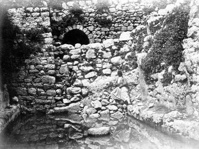 Pool of Siloam, Jerusalem, 1857 (B/W Photo)