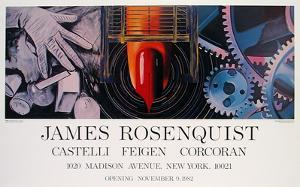 While the Earth reveiolved at night by James Rosenquist