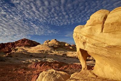 Sandstone Arch under Clouds