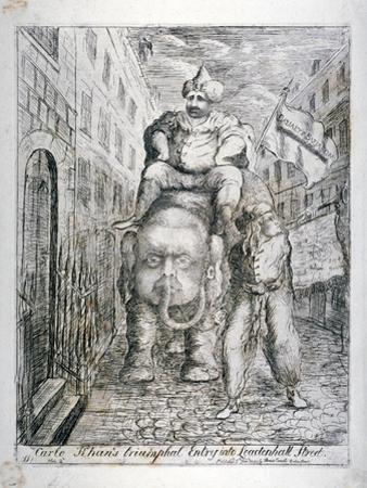 Carlo Khan's Triumphal Entry into Leadenhall Street, 1783