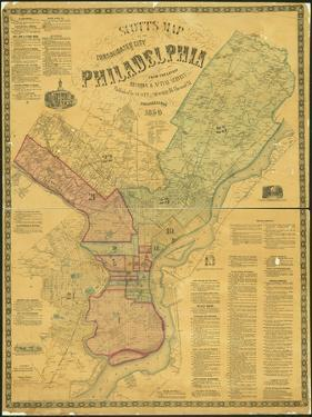 Scott's Map of the Consolidated City of Philadelphia, 1856 by James Scott