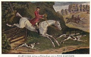 'The HUNTER taking a Flying Leap, over a Five-Bar Gate', c1740, (1922) by James Seymour