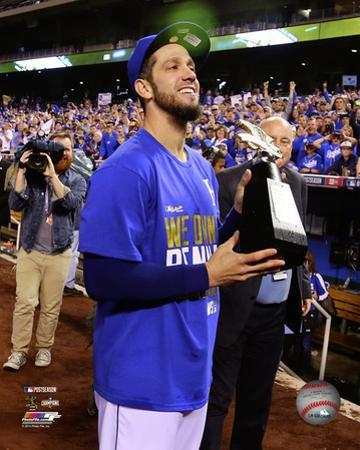 James Shields celebrates winning Game 4 of the 2014 American League Championship Series