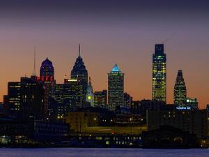 Philadelphia Skyline at Dusk by James Shive