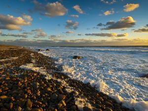 Sunset Along Moshup Beach, Martha's Vineyard with View of Ocean by James Shive