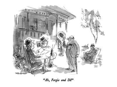 """""""Ah, Fergie and Di!"""" - New Yorker Cartoon by James Stevenson"""
