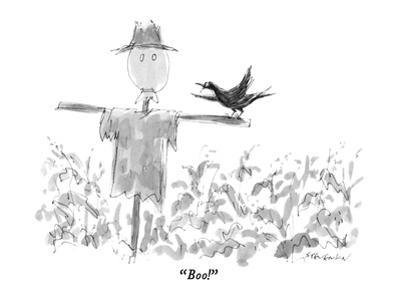 """Boo!"" - New Yorker Cartoon by James Stevenson"