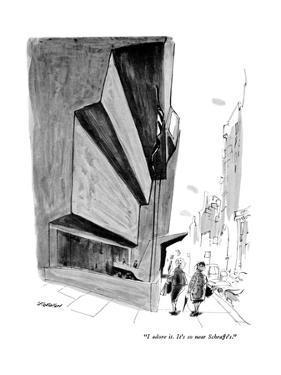 """I adore it. It's so near Schrafft's."" - New Yorker Cartoon by James Stevenson"