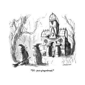 """It's post-gingerbread."" - New Yorker Cartoon by James Stevenson"