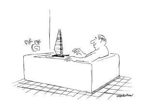 Man sailing boat in his bath. - New Yorker Cartoon by James Stevenson